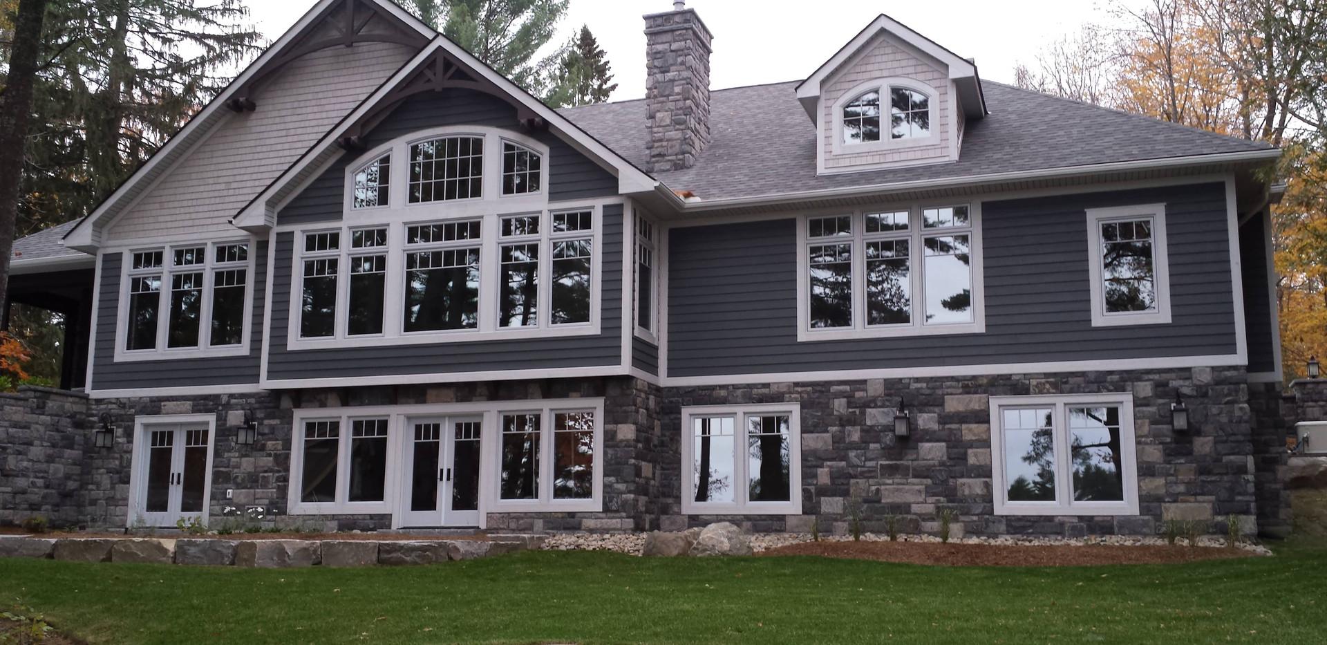 Large Grey Stone Cottage Edenlane Muskoka
