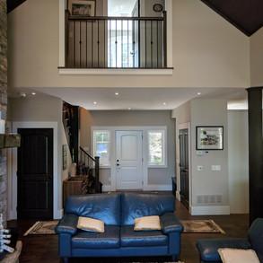 Cottage Living Room Balcony