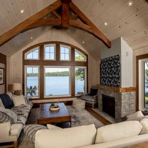 Indoor High Ceiling Wood Truss Beams