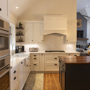 White Cabinetry in Modern Traditional Cottage