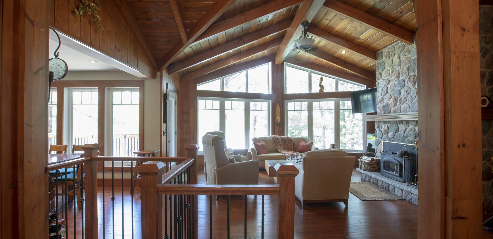 Wood Beam Ceilings Custom Cottage Edenlane Muskoka
