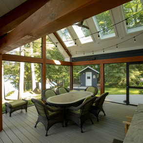 Custom Porched In Cottage Sunroom