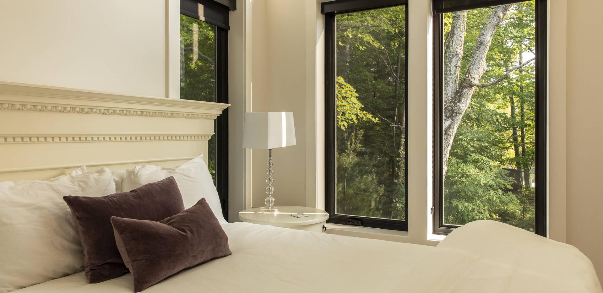 Large Bedroom Windows with View Custom Cottage Edenlane Muskoka