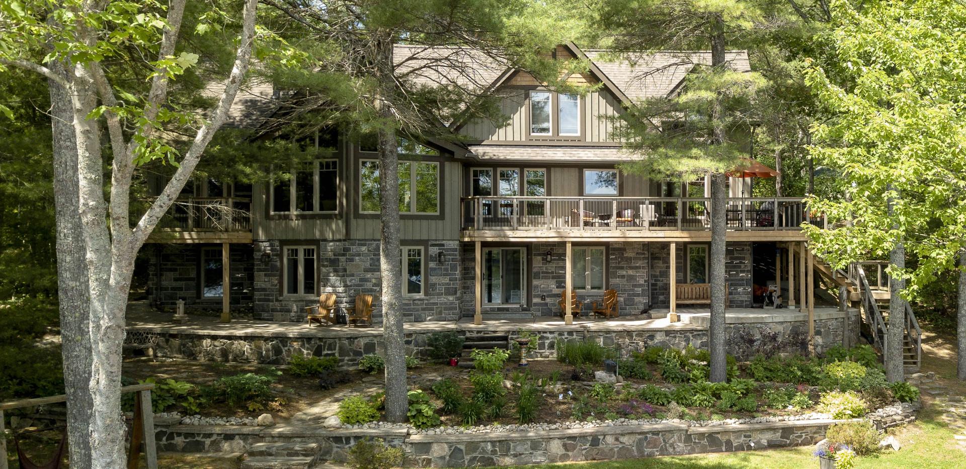 Large Brown Grey Cottage In the Trees Edenlane Muskoka