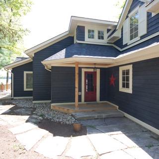 Blue Cottage Red Door