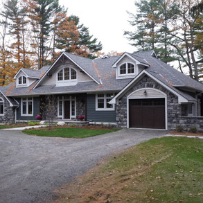 Large Cottage Intricate Roof Lines Lake Muskoka