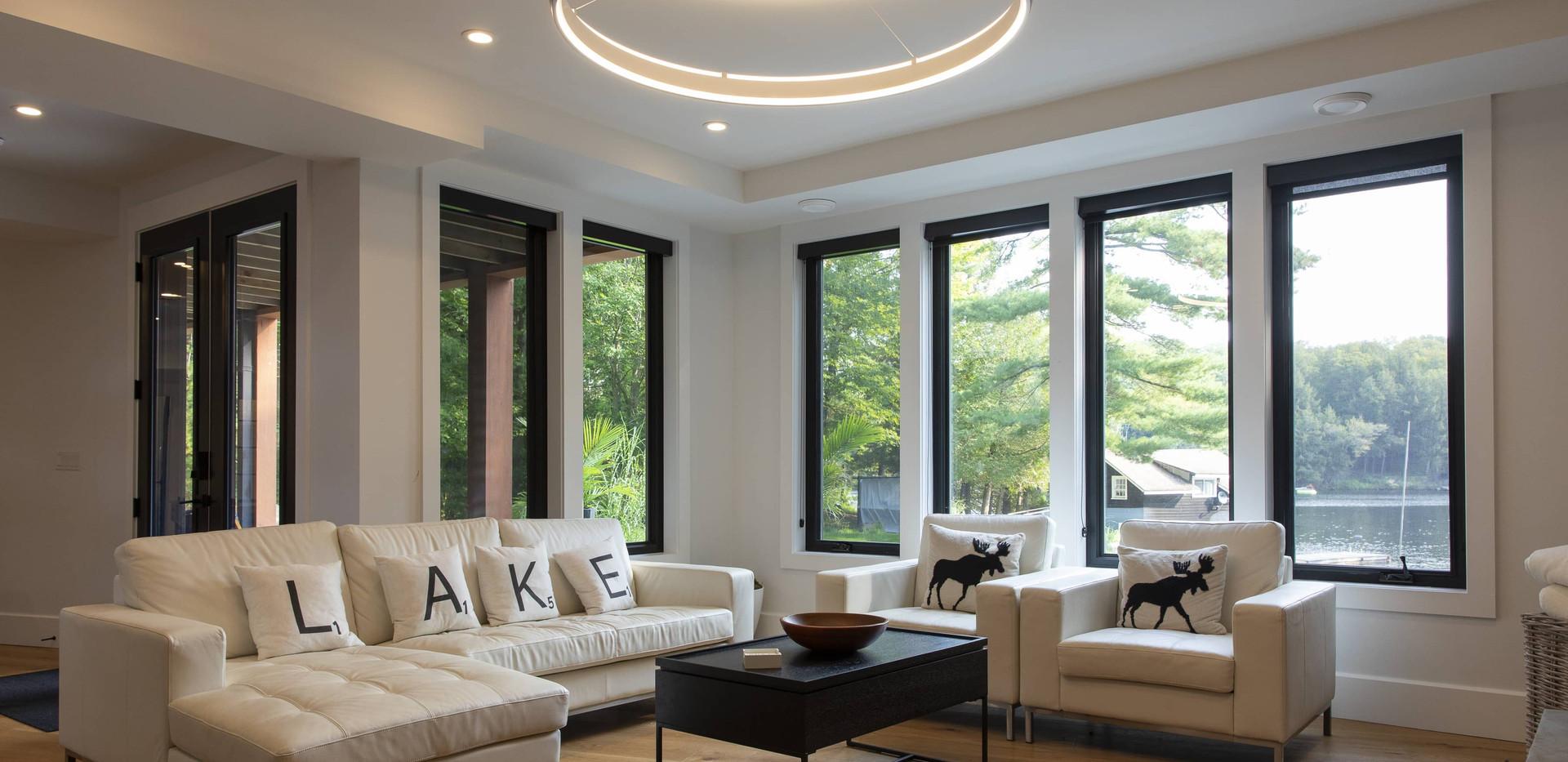 Large Basement Windows Modern Cottage