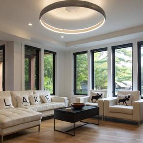 Large Windows in Modern Cottage