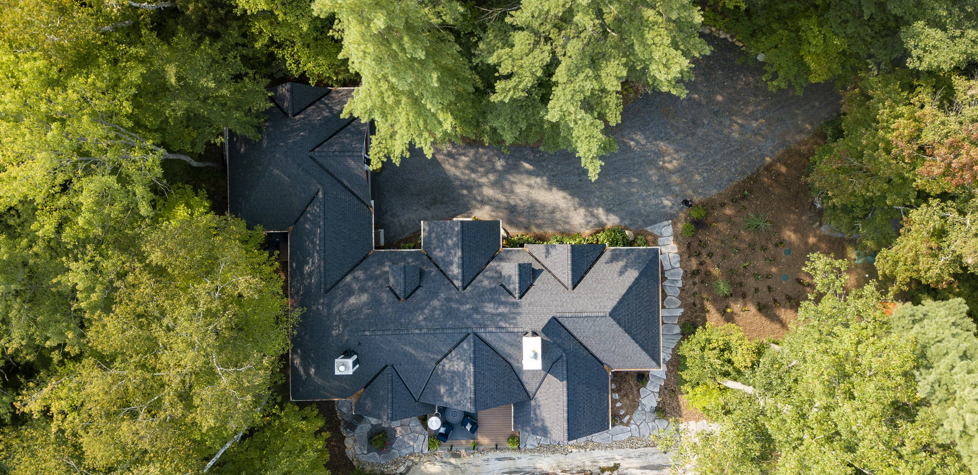 Aerial View of Cottage Roof Design