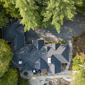 Aerial Shot of Intricate Cottage Roof