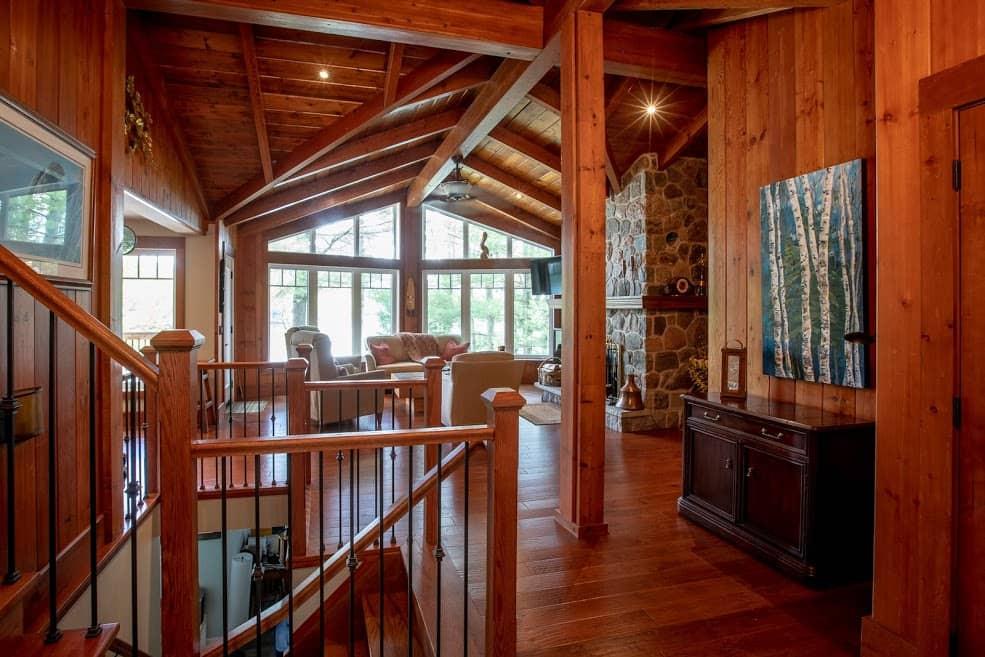 Wood Space inside Cottage Custom Build Edenlane Muskoka