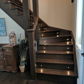 Lit Staircase Cottage
