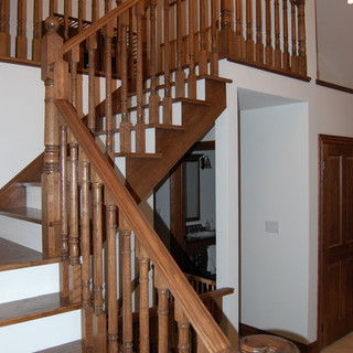 Wood Staircase Cottage