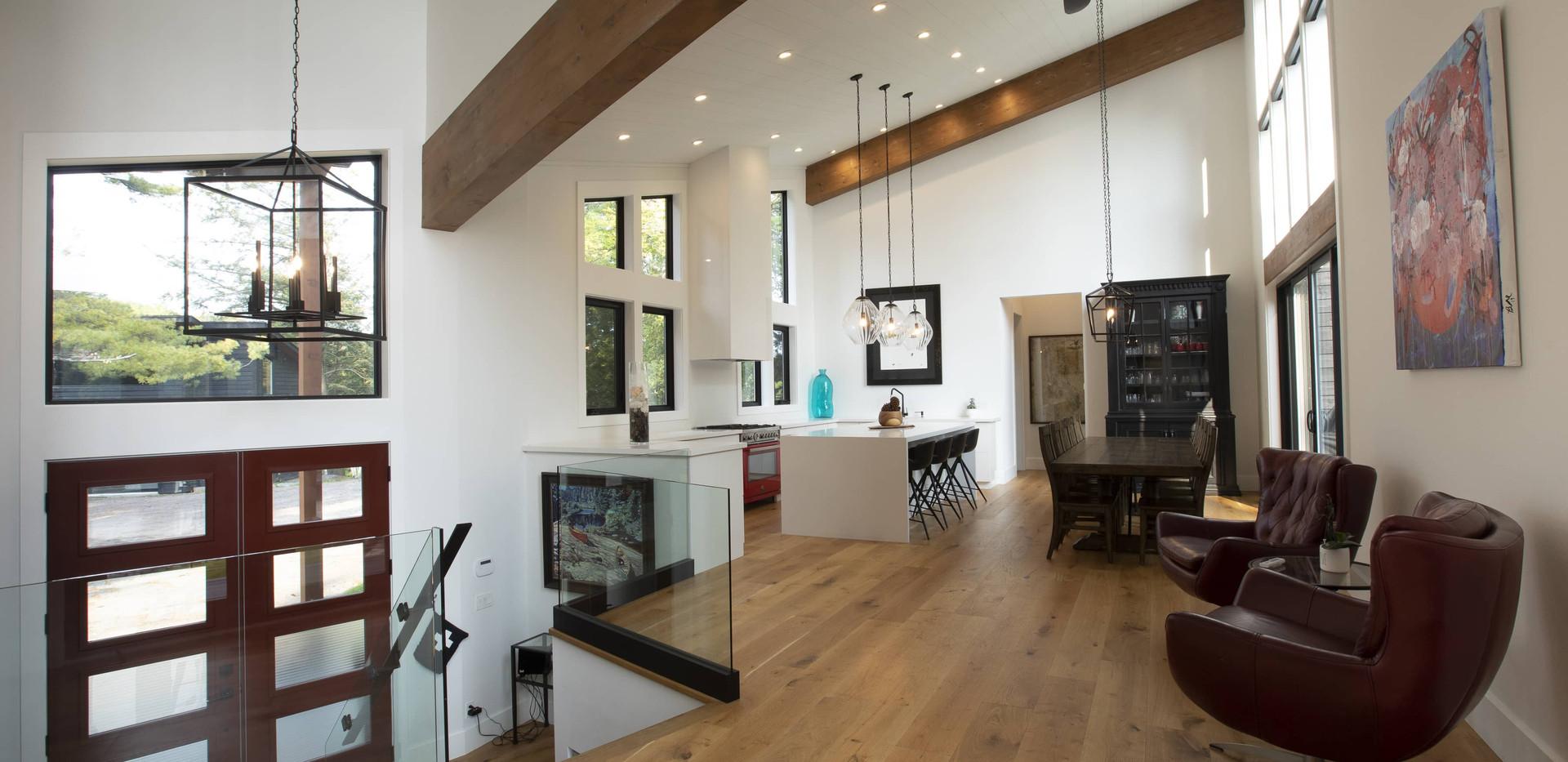 Great Room Wood Beams Custom
