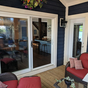 Screened In Porch From Living Room Cottage
