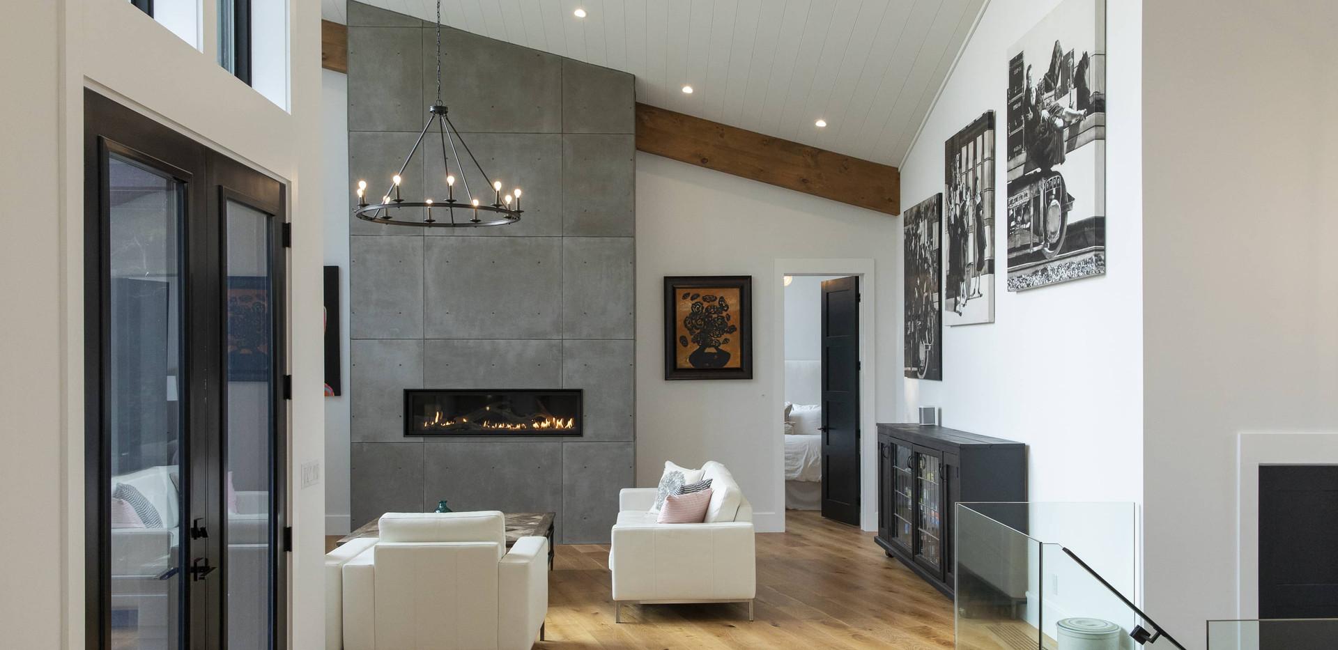 Floor to Ceiling Fireplace Custom