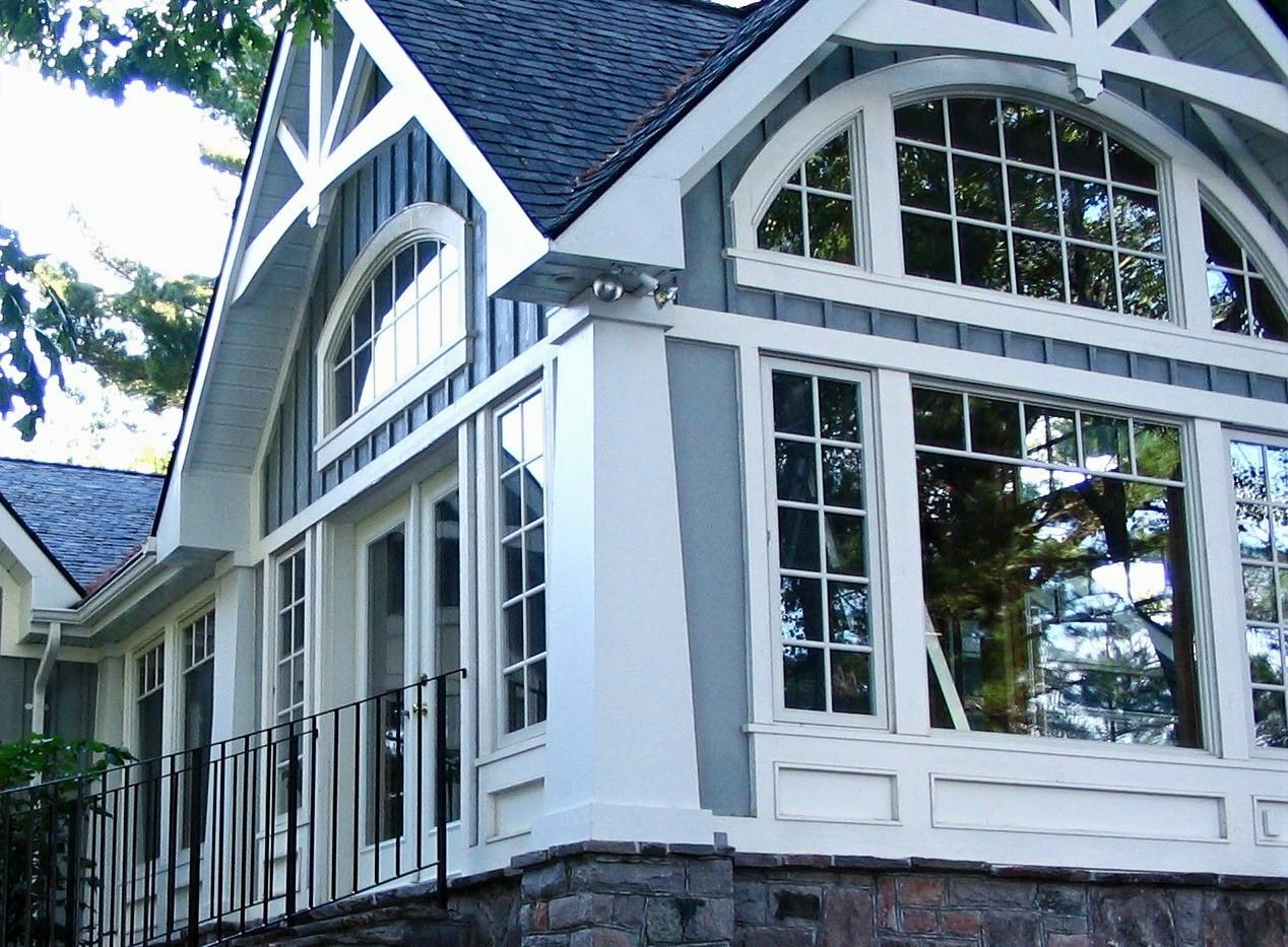 Intricate Window and Roof Detail Edenlane Muskoka