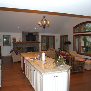 Open Concept Kitchen and Living Room Cottage