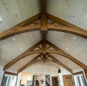 Wood Truss Beams High Ceilings
