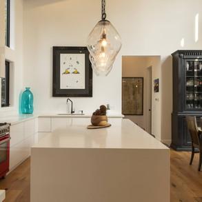 Modern Cottage Kitchen no upper cabinets
