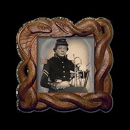 Army man playing trumpet. About Bass Race. Bio