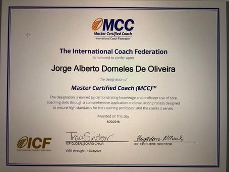 A conquista do prêmio máximo da ICF: Master Certified Coach - MCC