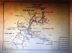 Карта оборонительной операции на Коросте