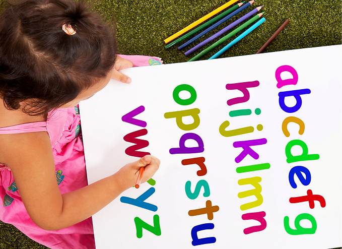 girl-writing-alphabet-shows-kid-learning