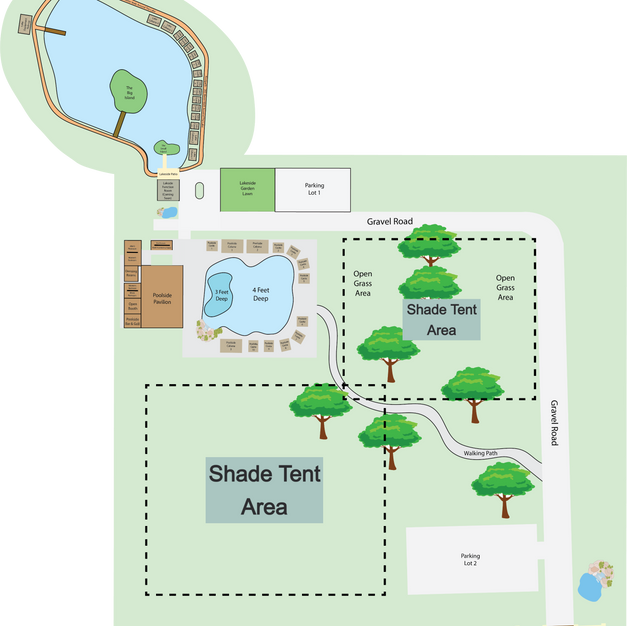 Whole Park with Shade Tent Areas