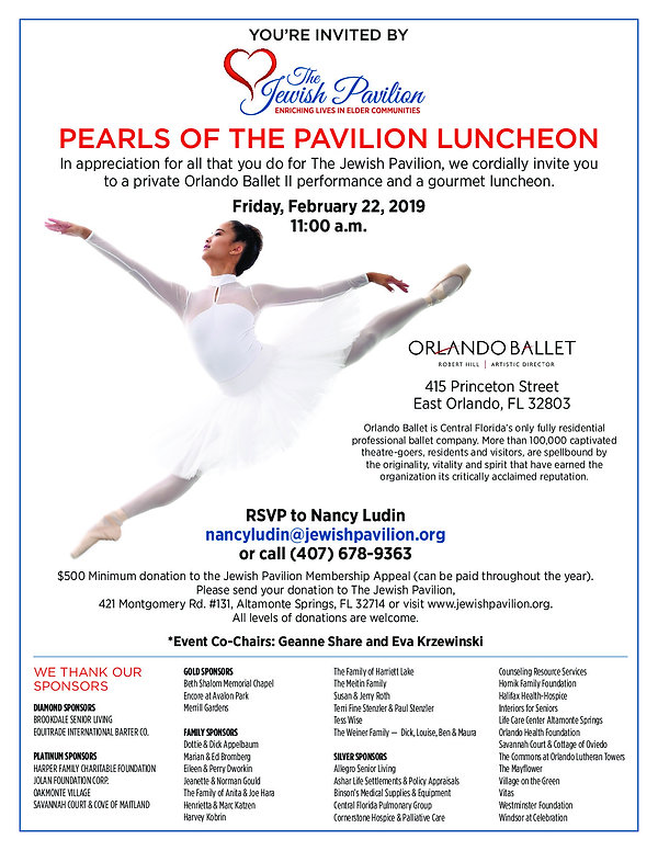 2019 Pearls of the Pavilion | Senior Living | Jewish