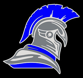 Spartan Head Logo Outline Black Backgrou
