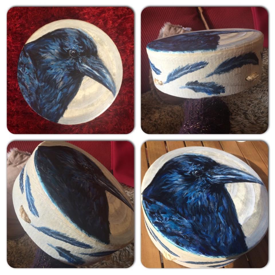 """Sari's 10"""" Crow Drum"""