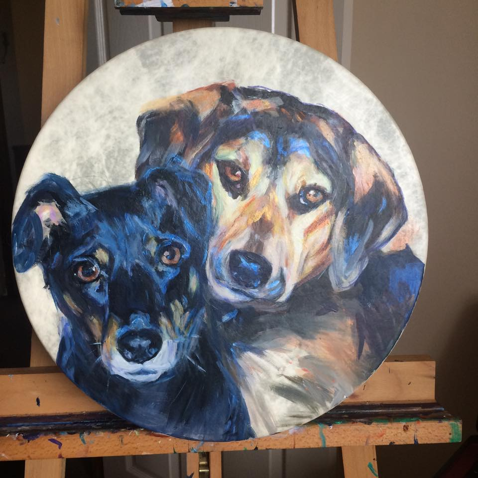 Dog Pawtrait Drum