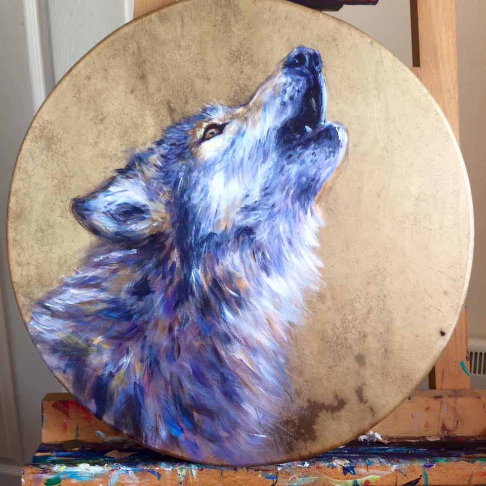 Wolf Shamanic Drum for Belashka