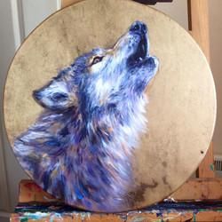 Wolf Shamanic Drum for Belashka