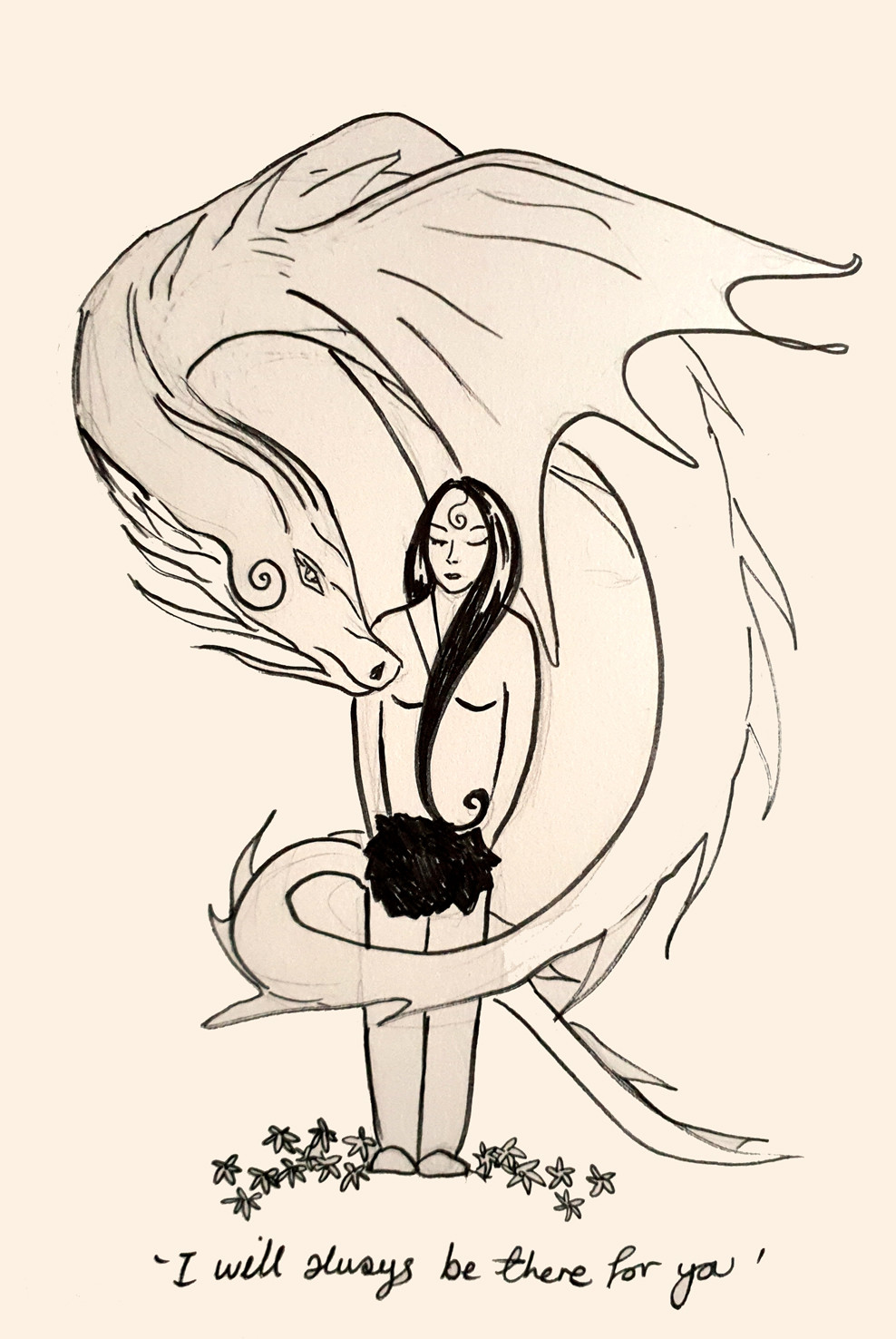 Dragon Friend -  Sketch a Day