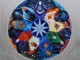 About the Nine Ladies Goddess Mandala