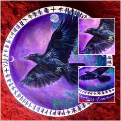 "22"" Raven Shamanic Drum"