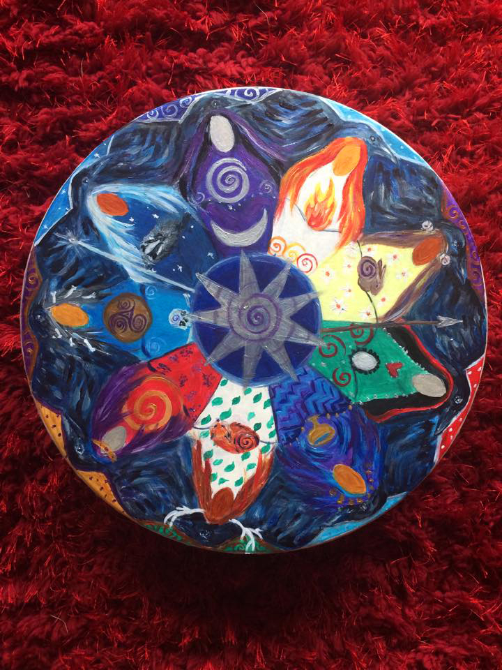 Nine Ladies Goddess Mandala Drum