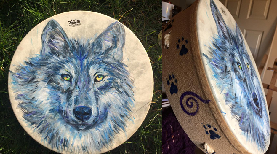 Wolf Remo Buffalo Drum