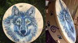 Wolf Remo Buffalo Drum