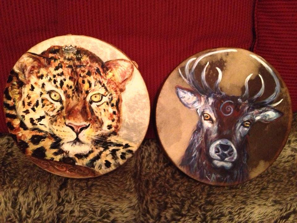 Leopard & Stag Drum