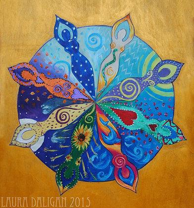 Goddess Mandala Prinnt