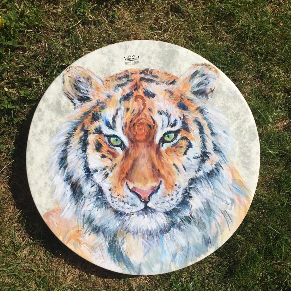 "22"" Tiger Drum"