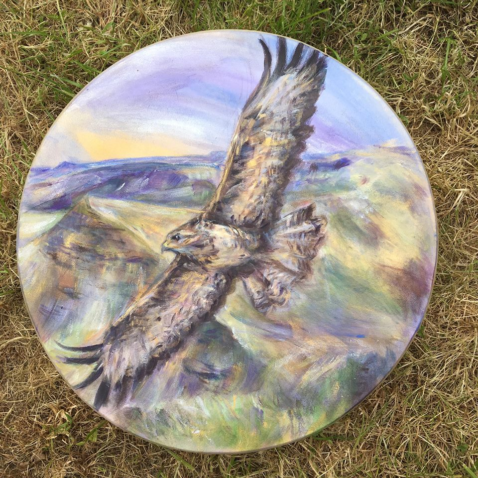 A Special Buzzard Drum Commission