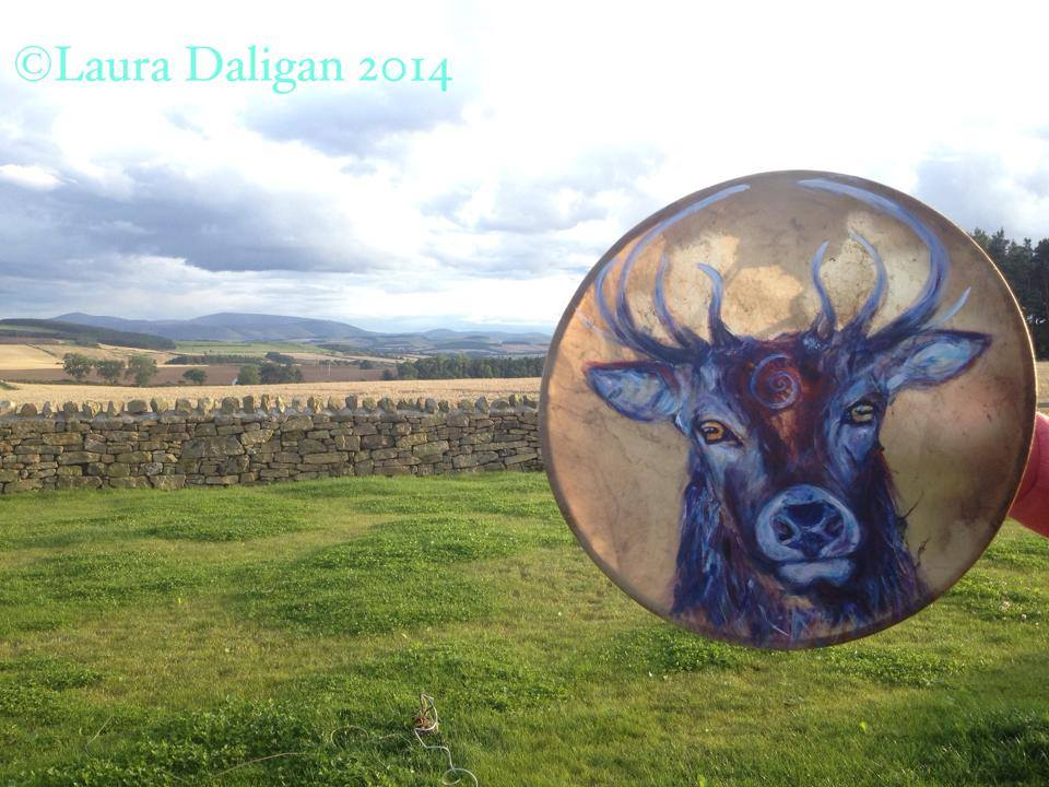 Stag Drum Painting
