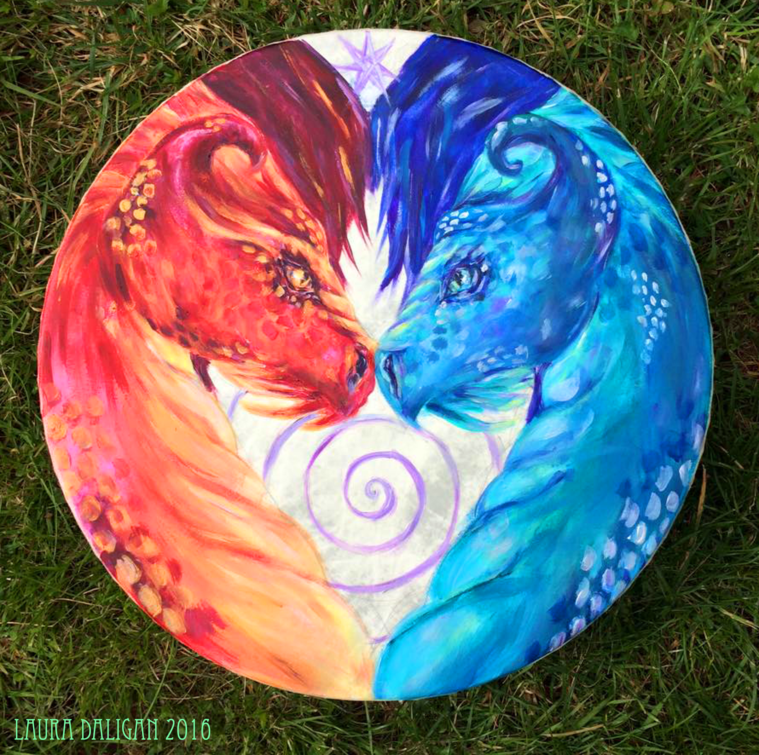 Fire & Water Dragon Drum Commission