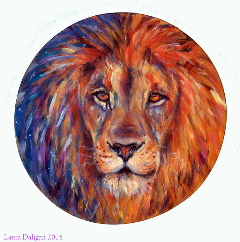 Anna's Lion Shamanic Drum