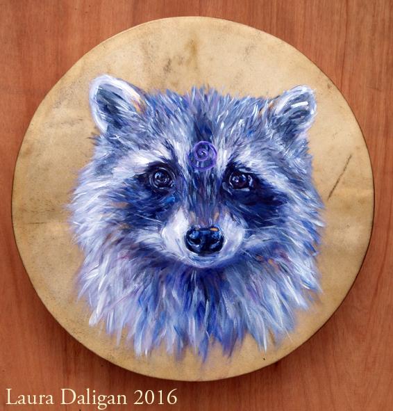 Meirion's Raccoon Totem Drum