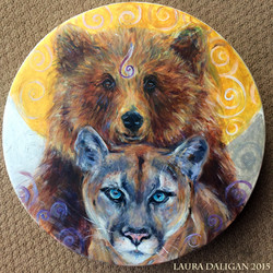 Bear & Cougar Drum